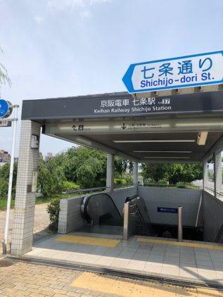 京阪電鉄七条駅
